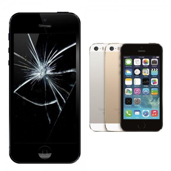 Apple iPhone 5s Display Glasscheibe Reparatur - schwarz oder weiss