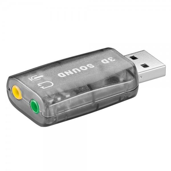 Goobay USB Sound Audio Klinken Adapter für Notebook PC Headset