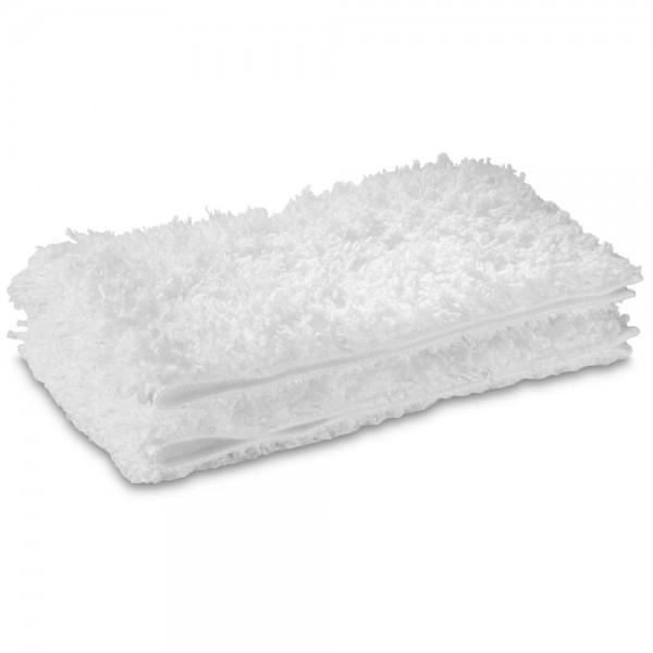2x Mikrofaser Tuch Set Bodentuch für Kärcher Dampfreiniger Bodendüse 2.863-173.0