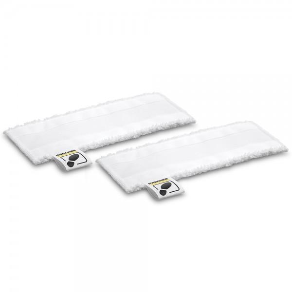 2x Mikrofaser Tuch Set Reinigungstücher für Kärcher Dampfreiniger Bodendüse