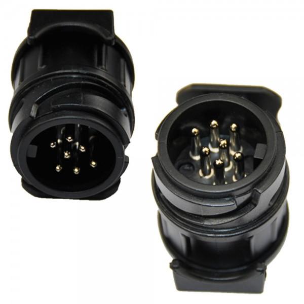 Adapterstück 13 auf 7 polig Stecker Steckdosen Adapter für Anhänger